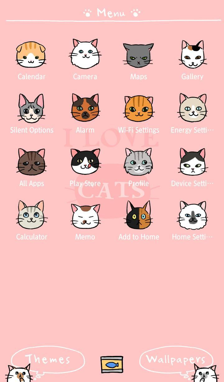 Wallpaper I Love Cats Theme poster