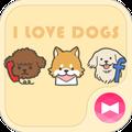 Cute Wallpaper I Love DOGS Theme