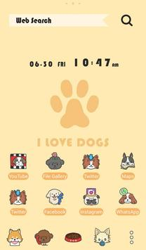 Cute Wallpaper I Love DOGS Theme poster