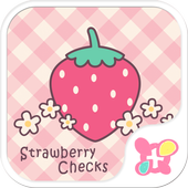 Strawberry Checks +HOME Theme icon