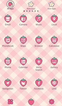 Strawberry Checks +HOME Theme apk screenshot
