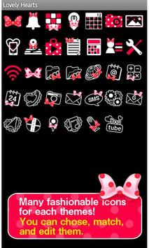 Lovely Hearts Wallpaper Theme apk screenshot
