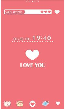 Heart Wallpaper LOVE YOU! poster