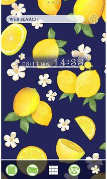Summer Theme-Citrus Navy- poster