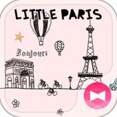 Cute Theme-Little Paris- أيقونة