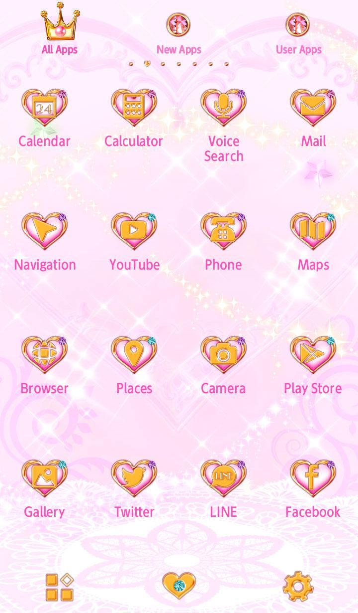 Android 用の マジカルハート 魔法の壁紙 アイコン 可愛い無料