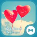 Cute Wallpaper Red Heart Balloons Theme