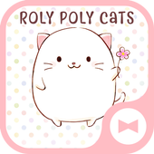 Cute Wallpaper Roly Poly Cats Theme icon