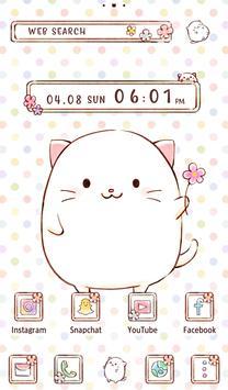 Cute Wallpaper Roly Poly Cats Theme screenshot 4