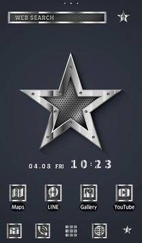 Metallic Star Wallpaper poster