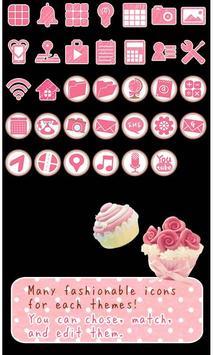 Cute Theme-Melty Sweets- apk screenshot
