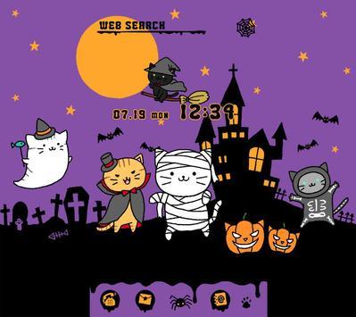 Cute Theme-Kitty Halloween- poster
