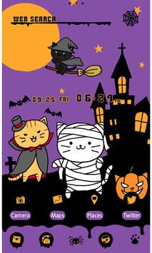 Cute Theme-Kitty Halloween- apk screenshot