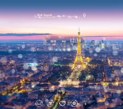 Beautiful Theme-Night in Paris poster