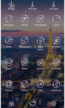 Beautiful Theme-Night in Paris apk screenshot