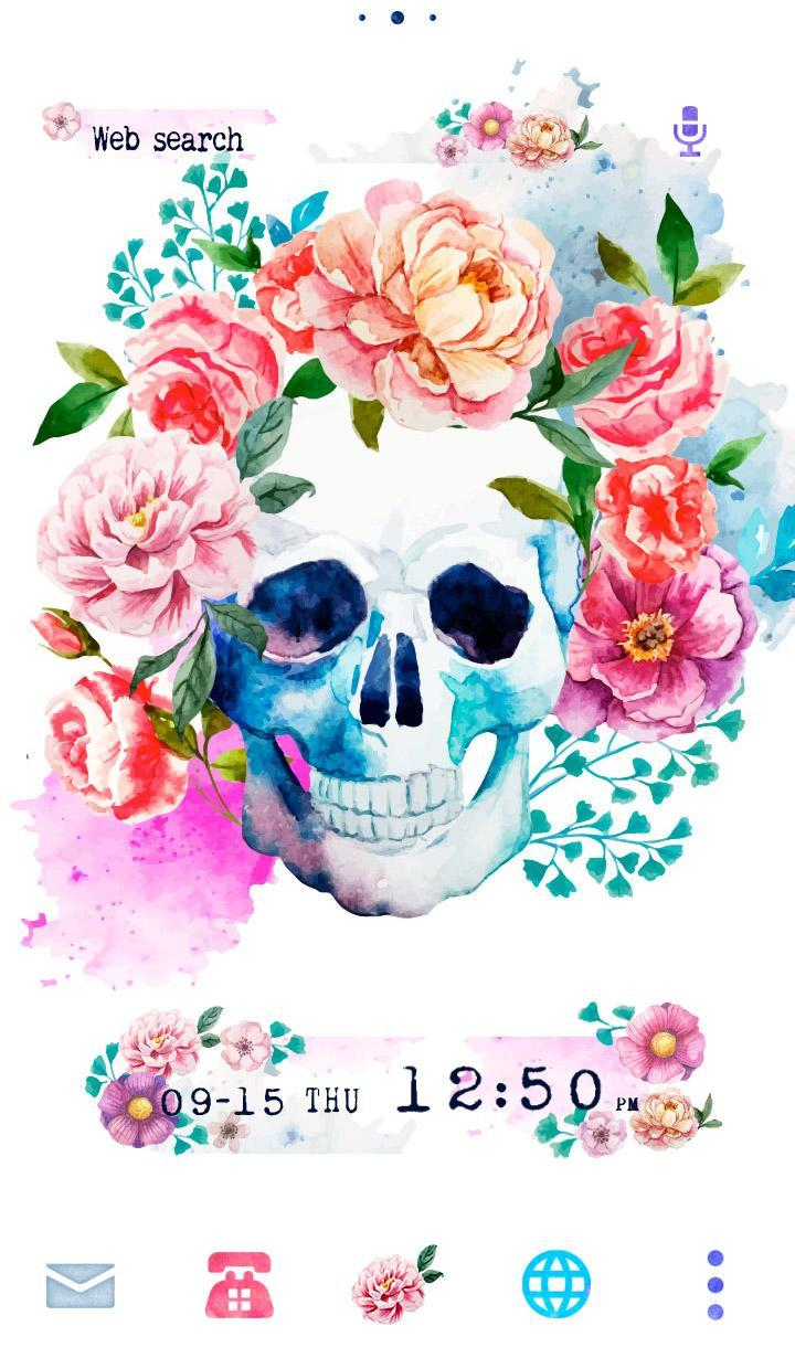 Skull Flowers Wallpaper For Android Apk Download