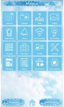 Cute Theme-Sky Above- apk screenshot
