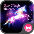Beautiful Wallpaper Star Magic Unicorn Theme