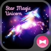 Beautiful Wallpaper Star Magic Unicorn Theme icon
