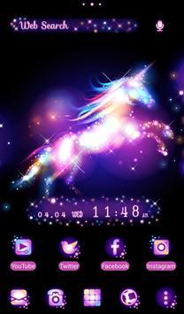 Beautiful Wallpaper Star Magic Unicorn Theme poster