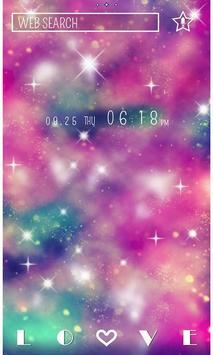Galaxy Theme Pink Universe poster