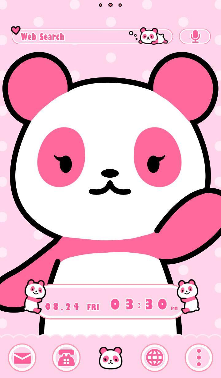 Cute Wallpaper Pink Panda Theme For Android APK Download