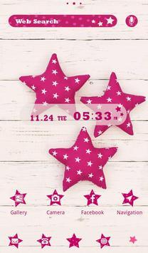 Pink Stars wallpaper poster