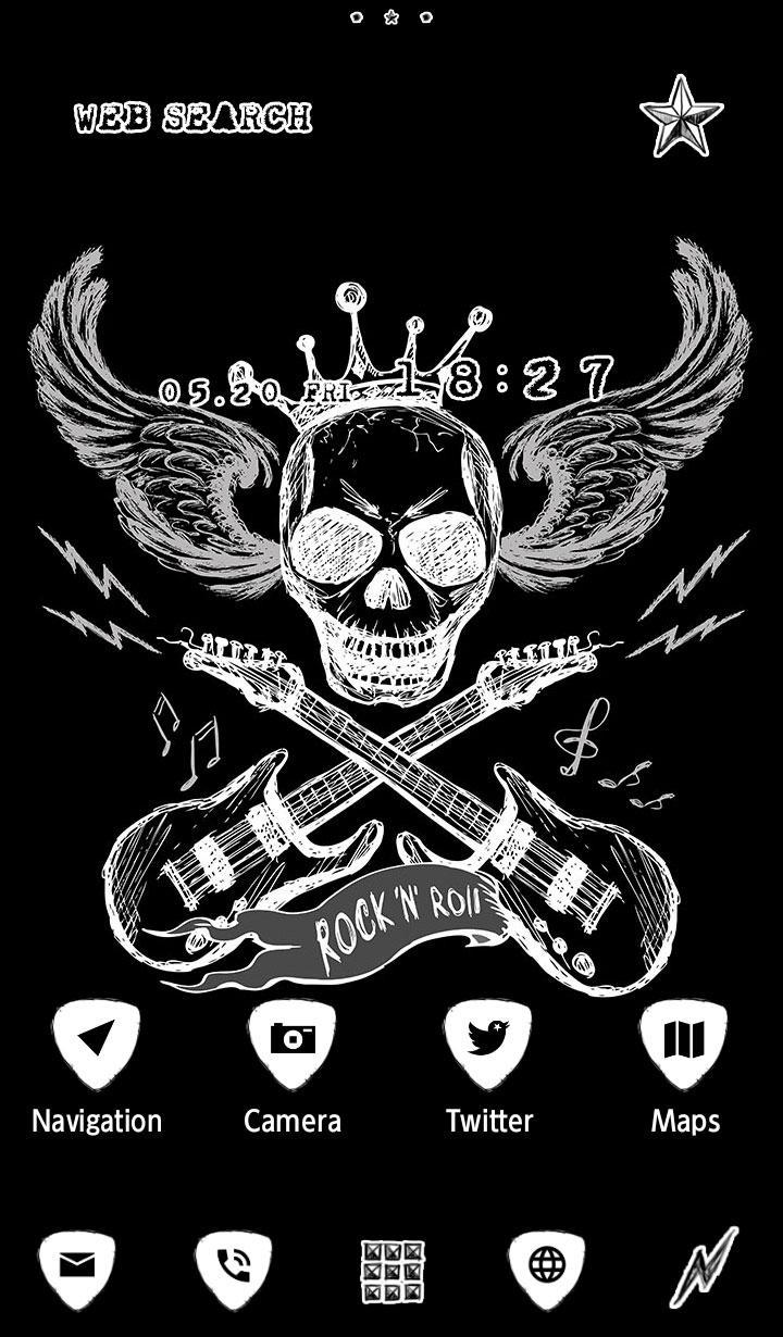 Skull Wallpaper Rock N Roll For Android Apk Download