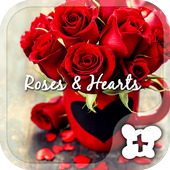 Cute wallpaper-Roses & Hearts icon