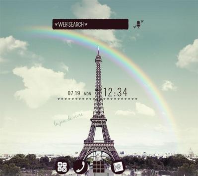 Симпатичные обоиRainbow Eiffel постер