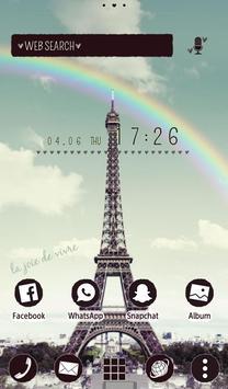 Симпатичные обоиRainbow Eiffel скриншот 4