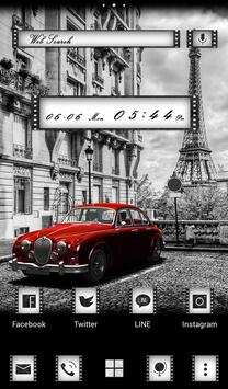 Retro Car in Paris Wallpaper apk screenshot
