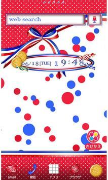 リボン壁紙 tricolor dot poster