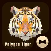 Polygon Tiger Wallpaper Theme icon