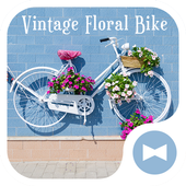 Cute Wallpaper Vintage Floral Bike Theme icon