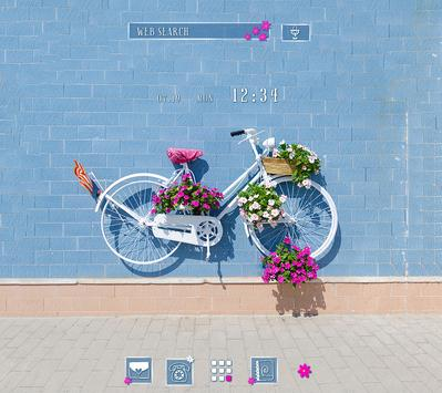 Cute Wallpaper Vintage Floral Bike Theme poster