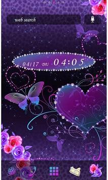 Butterfly Theme Violet Hearts poster