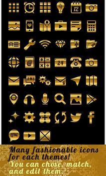 Stylish Theme-VIP Gold Ribbon- apk screenshot