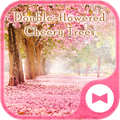 Cute Wallpaper Double-flowered Cheery Trees Theme