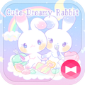 Pastel colors Wallpaper Cute Dreamy Rabbit Theme