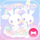 Pastel colors Wallpaper Cute Dreamy Rabbit Tema APK