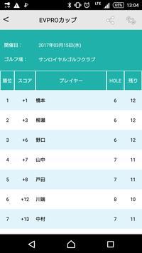 ゴルフスコア&ライブコンペ EV PRO apk screenshot