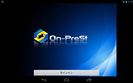 On-PreSt for Android Tablets poster