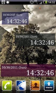 Seconds Clock Widget poster