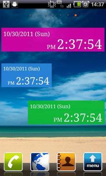 Seconds Clock Widget apk screenshot