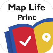 Map Life Print icon