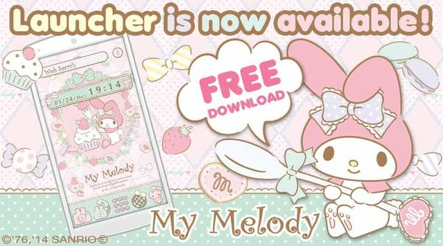 My Melody Launcher Sugar Sweet poster