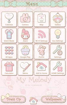 My Melody Launcher Sugar Sweet apk screenshot