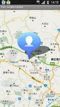 Your location(beta) apk screenshot
