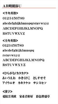 AR明朝体U apk screenshot